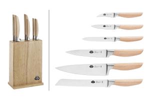Bloc en bois Ballarini Tevere 6 couteaux de cuisine