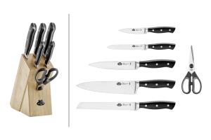 Bloc en bois Ballarini Brenta 5 couteaux + 1 paire de ciseaux