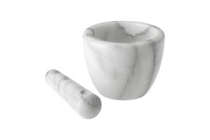 """Mortier avec pilon """"Gourmet"""" en marbre Westmark Ø 10 cm"""