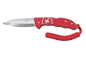 Couteau pliant Victorinox Hunter Pro Alox rouge + attache en paracorde