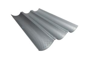Plaque perforée pour 3 baguettes ou tuiles en acier