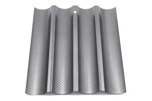 Plaque perforée pour 4 baguettes ou tuiles en acier