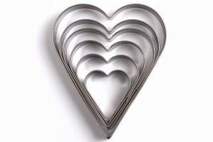 Set de 6 emporte-pièces Livoo inox forme coeur