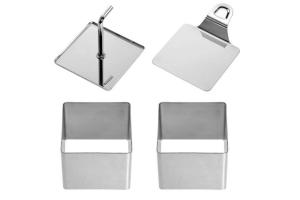 """Lot de 2 emporte-pièces carrés """"Quadrat"""" Westmark acier inox 6,7cm"""