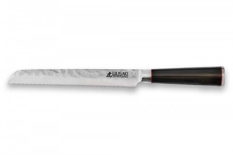 Couteau à pain Wusaki Ebony AUS8 20cm manche ébène vernis