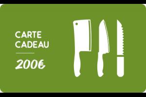 Carte cadeau 200€ Couteauxduchef.com