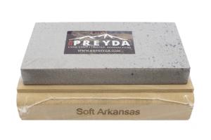 Pierre naturelle d'Arkansas RH PREYDA Mounted Stone grain moyen/épais