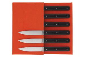 Coffret 6 couteaux de table Perceval 9.47 noir