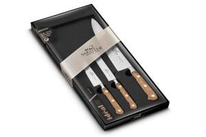 Coffret 3 couteaux Sabatier Perigord Office + Universel + Chef