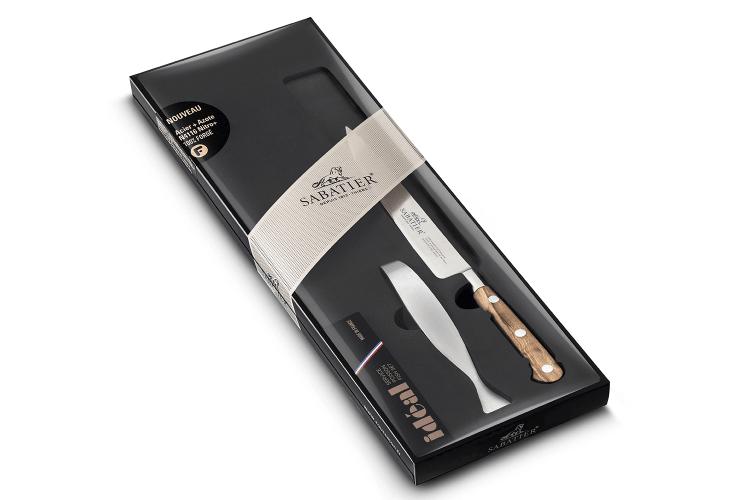 Coffret à poisson Sabatier Provençao couteau filet de sole 15cm + pince à arêtes