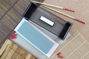 Pierre à aiguiser japonaise Suehiro Cerax céramique grains 180 sur socle