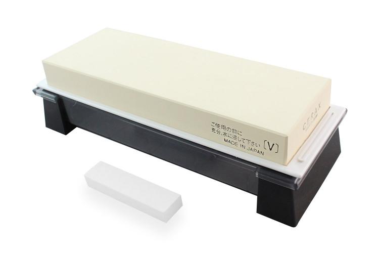 Pierre à aiguiser japonaise Suehiro Cerax céramique grains 3000 sur socle - Taille L
