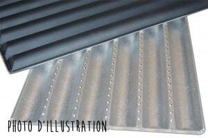 Plaque à baguettes 8 gouttières en aluminium