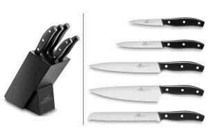 Bloc Sabatier International 5 couteaux inox et ABS noir reconditionné