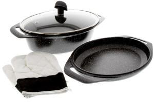 Marmite 5 pièces Pradel Excellence Premium 33,5 x 25 cm façon pierre tous feux/ induction