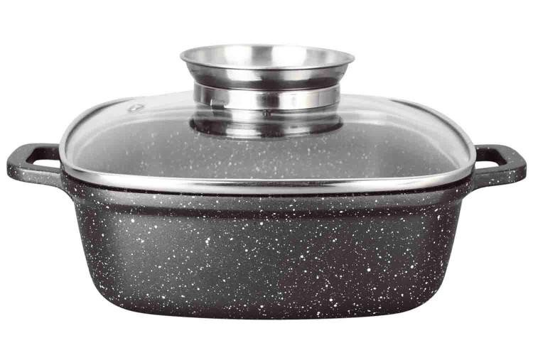 Faitout//Marmite en Fonte DAluminium avec couvercle Anti-Chaleur Tous Feux Dont Induction 24 cm BergHOFF