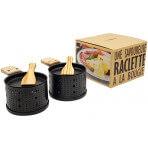 Coffret service à raclette à la bougie Cookut Lumi services individuels poêlons et spatules