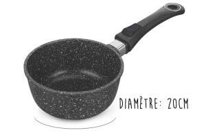 Casserole en fonte Pradel Excellence Premium 20cm façon pierre tous feux/ induction