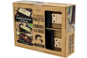 Coffret cadeau Cookut fondue au fromage, fondue au chocolat et raclette à la bougie