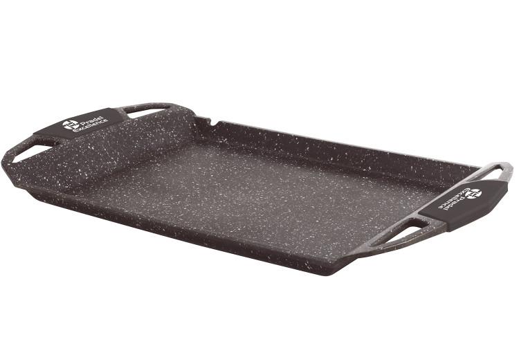 Plancha grill en fonte Pradel Excellence Premium 48 x 28 cm façon pierre tous feux/ induction