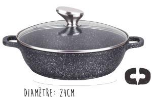Mijoteuse en fonte Pradel Excellence Premium 24cm façon pierre tous feux/ induction
