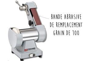 Bande abrasive grains 100 (8x5cm) pour affûteuse Fischer 75800