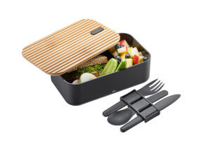 Lunch box Gefu Enviro avec set de 3 couverts
