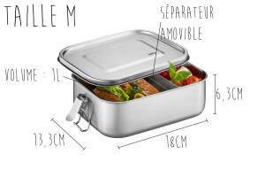Lunch box Gefu Endure en inox