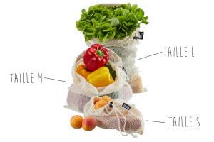 Sacs réutilisables Gefu Aware pour fruits et légumes - 3 pièces