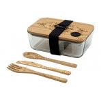 Coffret Cookut Nu bento box verre et bambou zéro déchet + couverts