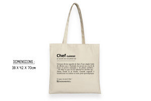 Totebag officiel super cool Couteauxduchef - 100% coton