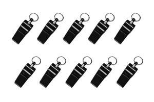 Boîte de 10 sifflets Elless sport noir - Parfaits pour entraineur