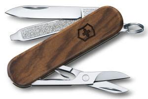 Couteau suisse Victorinox 3 pièces 58mm Classic SD Noyer 5 fonctions