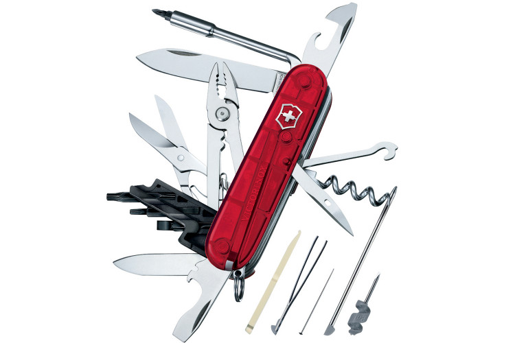 Couteau suisse Victorinox Cyber Tool M rouge translucide 91mm 34 fonctions