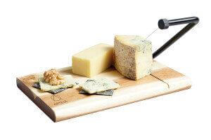 Planche à fromage Artesa avec coupe-fil intégré en bois d'acacia - 26x18cm
