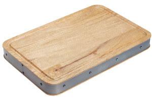 Planche à découper épaisse style industriel 48x32x5cm Kitchen Craft