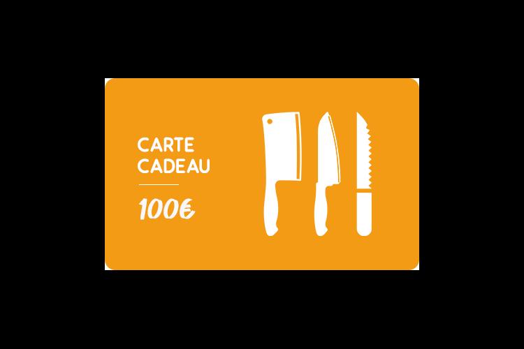 Carte cadeau 100€ Couteauxduchef.com