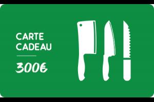 Carte cadeau 300 euros Couteauxduchef.com