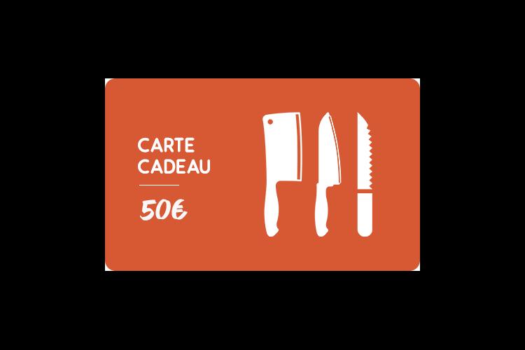 Carte cadeau 50€ Couteauxduchef.com