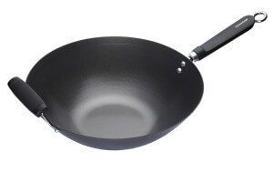 Wok antiadhésif Kitchen Craft acier carbone 36cm