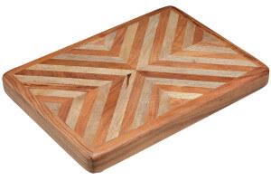 Planche à découper Kitchen Craft Serenity Acacia chevrons 28x38x4cm