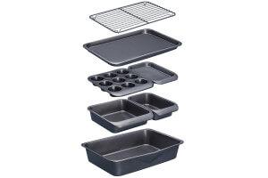 Set empilable 7 moules pâtisserie et plaques MasterClass Smartspace antiadhésifs
