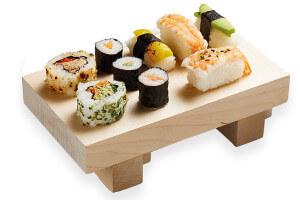 Planche à sushis Kitchen Craft 21x12x6cm bois de bouleau