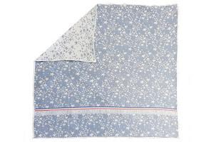 Emballage cadeau écologique bleu Cookut 70x70cm coton recyclé fabriqué en France