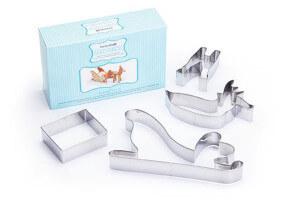 Kit pâtisserie traineau et renne Père Noël 3D Kitchen Craft 4 pièces