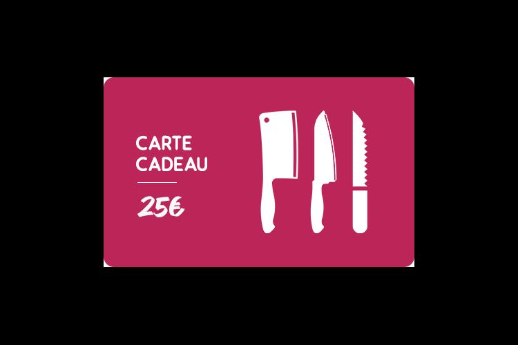 Carte cadeau 25€ Couteauxduchef.com