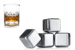 Set 4 pierres à whisky Vacu Vin