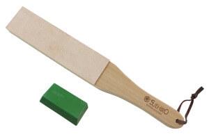 Set stropping cuir de polissage japonais Suehiro 31cm + pâte abrasive