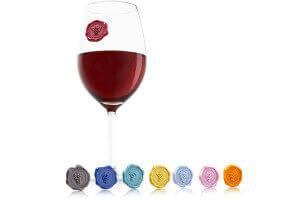 Set 8 marque-verres Vacu Vin Cépages