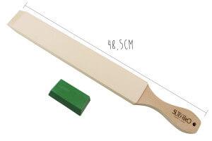 Set stropping cuir de polissage japonais Suehiro 48,5cm + pâte abrasive